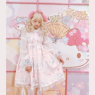 Diamond Honey Sweet Cat Fun Lolita Dress JSK (DH163)