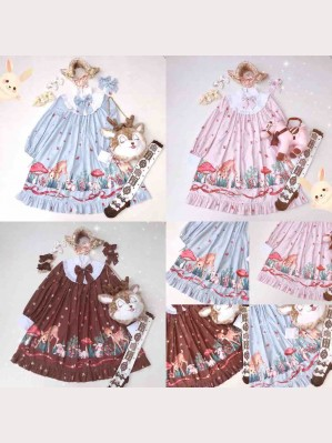 Diamond Honey Fawn Forest Sweet Lolita Dolly OP
