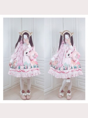 Diamond Honey Fawn Forest Sweet Lolita Dolly OP & KC Set