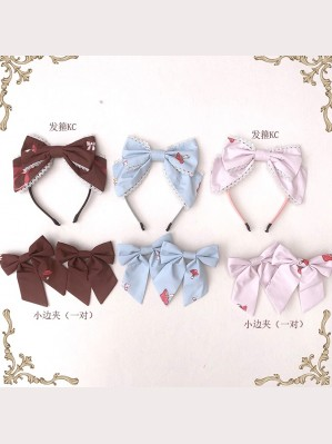 Diamond Honey Fawn Forest Sweet Lolita KC (Headbow / Hair Clips)