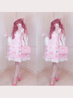 Diamond Honey Snow Strawberries Sweet Lolita Fashion Dress OP