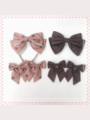 Diamond Honey Little Raccoon Cafe Lolita Headbow / Hairclips