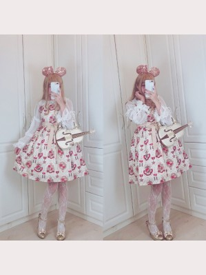 Diamond Honey Royal coat of arms Lolita Dress JSK & KC Set