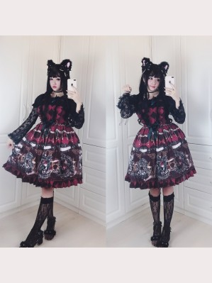 Diamond Honey Dark fairy tale retro sword knight Lolita Dress JSK