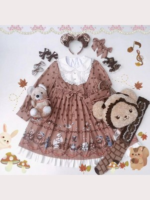 Diamond Honey Little Raccoon Cafe Lolita Dress OP
