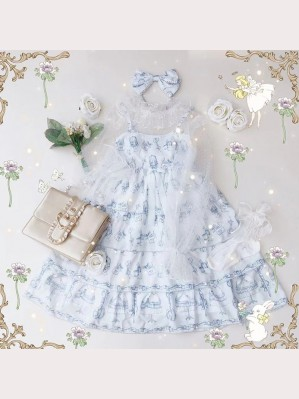 Diamond Honey Sweet Little Tailor Lolita Fashion Dress (JSK + Blouse + KC) 3pc Set