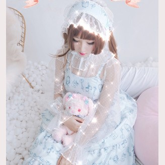 Diamond Honey Sweet Little Tailor Lolita Fashion Dress JSK & KC Set