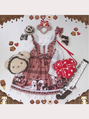 Diamond Honey Chocolate Doll Zombies Sweet Lolita Dress JSK