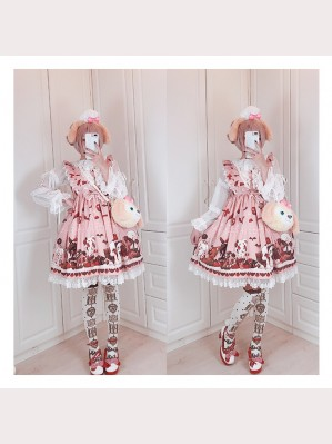 Diamond Honey Chocolate Doll Zombies Sweet Lolita JSK & KC Set