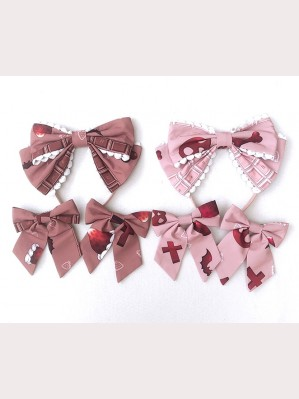 Diamond Honey Chocolate Doll Zombies Sweet Lolita Headbow / hairclips
