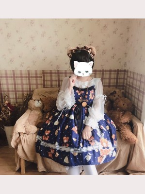 Diamond Honey Bear Gift Box Sweet Lolita Dress JSK (DH161)
