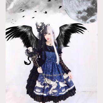 Diamond Honey Nautical Whale Gothic Lolita Dress JSK (DH156)