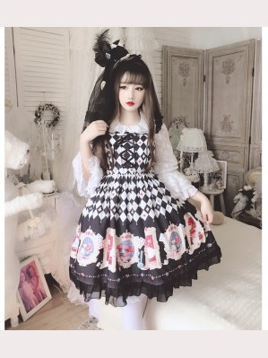 Diamond Honey Alice in Wonderland Lolita Dress & KC Set