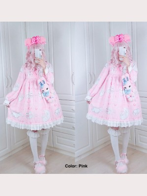 Diamond Honey Sweet Cat Fun Lolita Dress OP (DH143)