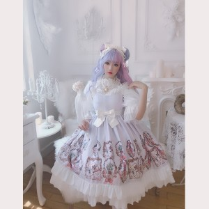 Diamond Honey Vintage perfume bottle Classic Lolita Dress JSK (DH185)