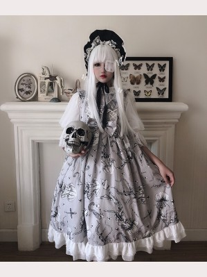 Diamond Honey Bone Jelly Fish Gothic Lolita Dress JSK (DH180)