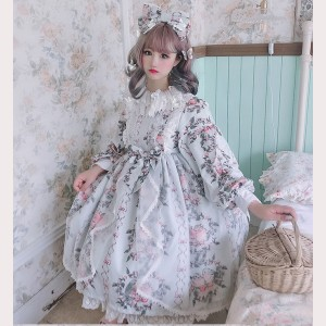 Diamond Honey Four Seasons Bird Classic Lolita Dress OP (DH183)