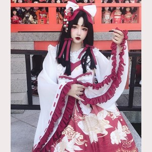 Diamond Honey Japanese Miko Hime Sleeve Blouse (DH176)