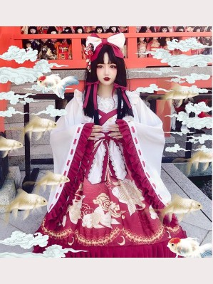 Diamond Honey Japanese Miko Lolita Dress JSK (DH175)
