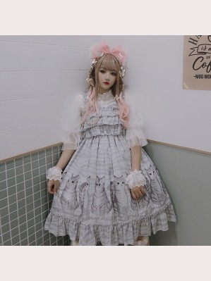 Diamond Honey Tabby Kitten Sweet Lolita Dress JSK (DH174)