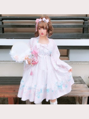 Diamond Honey Kimono Blossom Lolita Dress & Haori Set (DH172)