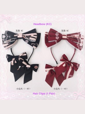 Diamond Honey Kimono Rabbits Sweet Lolita KC / Hair Clips