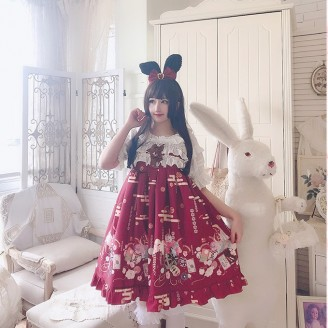 Diamond Honey Kimono Rabbits Sweet Lolita Dress JSK (DH170)