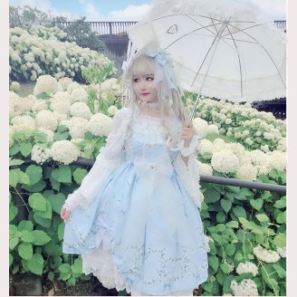 Diamond Honey Lily flower story Classic Lolita Dress JSK (DH168)