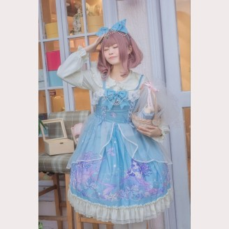 Mermaid's Sea Hymn Lolita Fashion Dress JSK & KC Set