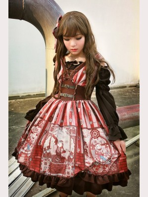 Souffle Song Steampunk Cat Lolita 2pc Special Set (JSK + Hairclip) Size S