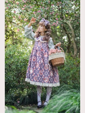 Infanta Owls Classic Lolita Dolly Dress JSK & KC Set (2pc Set)