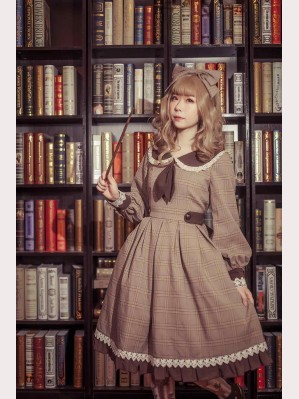 Infanta The Librarian Autumn Lolita Dress OP (IN837)