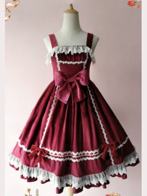 Infanta Honey Candy Lolita Velvet Dress JSK (IN30)