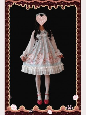 Infanta Bear Nurse Sweet Lolita Dress Dolly JSK (IN834)