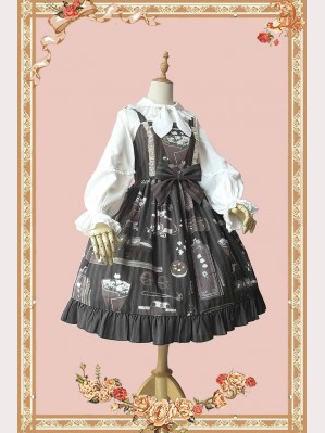 Infanta Gardenia Graduation Season Classic Lolita Dress JSK & KC Set (IN829)