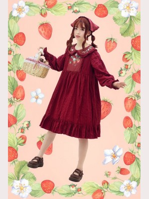 Infanta Strawberry Bouquet Lolita Dress OP