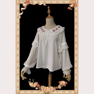 Infanta Strawberry embroidery long sleeve Lolita blouse