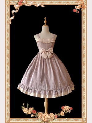 Infanta Striped Classic Lolita Vintage Dress JSK