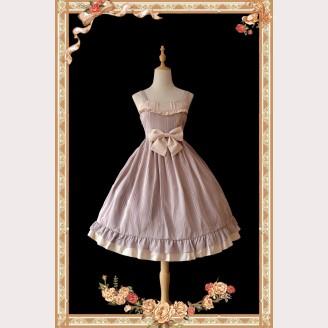 Infanta Striped Classic Lolita Vintage Dress JSK