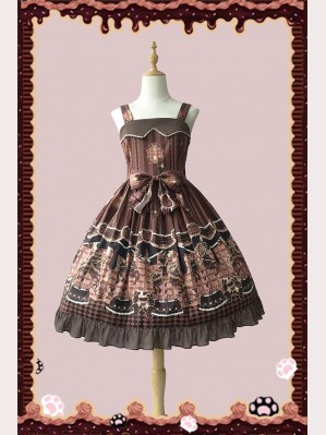 Infanta Chocolate Trojan Causal Lolita Dress JSK