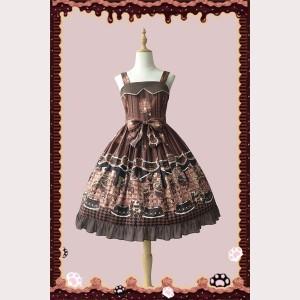 Infanta Chocolate Trojan Causal Lolita Dress JSK