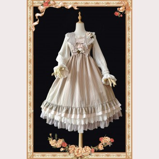 Infanta Striped Classic Lolita Vintage Full Set