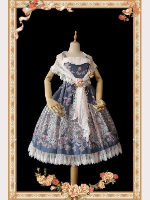 Infanta Cat & Rabbit Tea Party Classic Lolita Dress JSK (IN847)