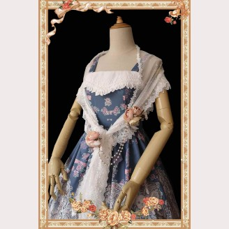 Infanta Cat & Rabbit Tea Party Lolita Scarf