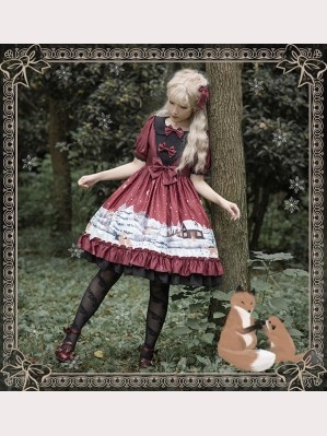 Magic Tea Party Buying Mittens Lolita Dress OP