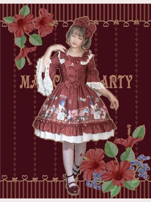 Magic Tea Party Handmade Girl's Hat Shop Lolita Dress OP