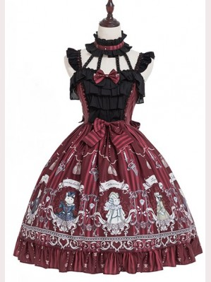 Magic Tea Party Rose Knight Lolita Dress JSK