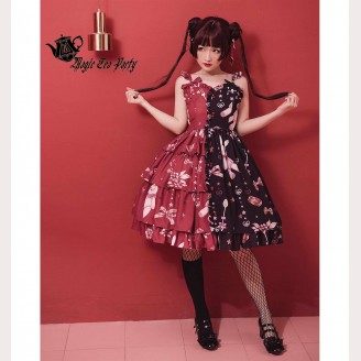 Magic Tea Party Chocolate Rabbit Sweet Lolita Dress JSK (MP50)