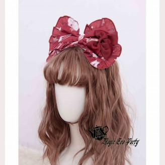 Magic Tea Party Chocolate Rabbit Headbow KC