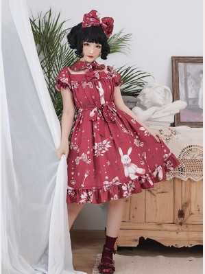 Magic Tea Party Chocolate Rabbit Sweet Lolita Dress OP (MP54)